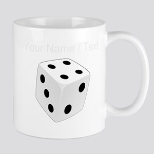 Custom White Playing Dice Mugs
