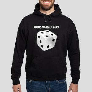 Custom White Playing Dice Hoodie