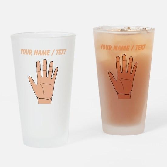 Custom Left Hand Drinking Glass
