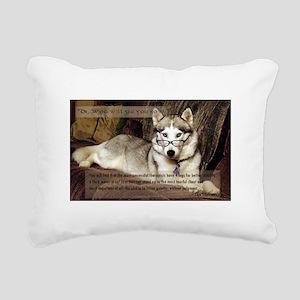 My therapist is a Siberi Rectangular Canvas Pillow