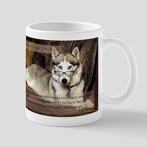 My therapist is a Siberian Husky Mug