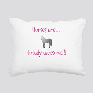 Horse Theme Design #5400 Rectangular Canvas Pillow
