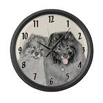 Keeshonds Large Wall Clock