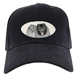 Keeshonds Black Cap with Patch
