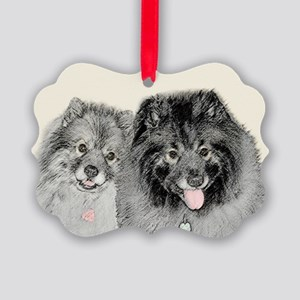 Keeshonds Picture Ornament