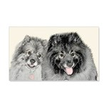 Keeshonds 20x12 Wall Decal