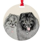 Keeshonds Round Ornament