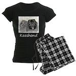 Keeshonds Women's Dark Pajamas