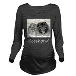Keeshonds Long Sleeve Maternity T-Shirt
