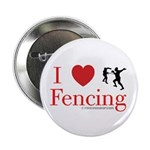 I Love Fencing Button
