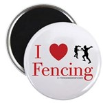 I Love Fencing Magnet