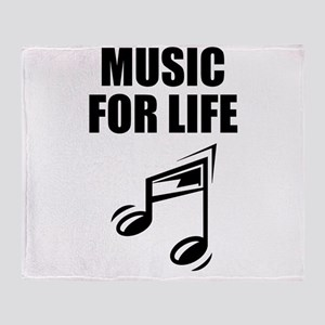 Music For Life Throw Blanket