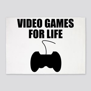 Video Games For Life 5'x7'Area Rug
