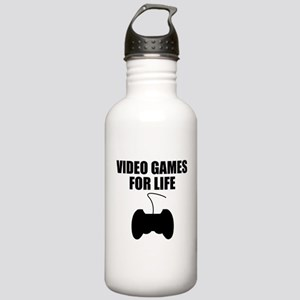 Video Games For Life Water Bottle