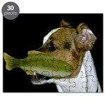 Jack Russell Terrier Fishing Puzzle