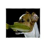 Jack Russell Terrier Fishing Throw Blanket