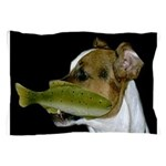 Jack Russell Terrier Fishing Pillow Case