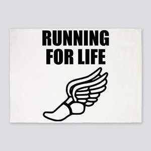 Running For Life 5'x7'Area Rug