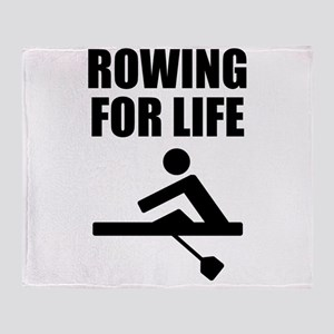 Rowing For Life Throw Blanket
