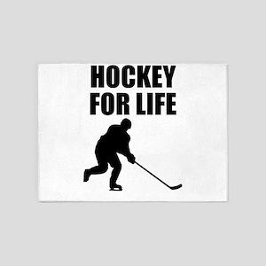 Hockey For Life 5'x7'Area Rug