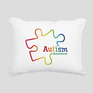 Rainbow Gradient Autism Rectangular Canvas Pillow