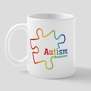 Rainbow Gradient Autism Mug