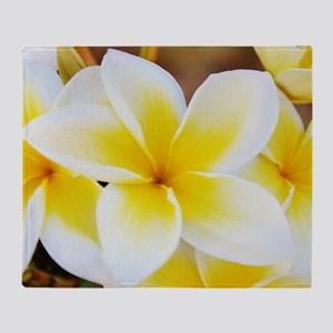 Plumeria Throw Blanket