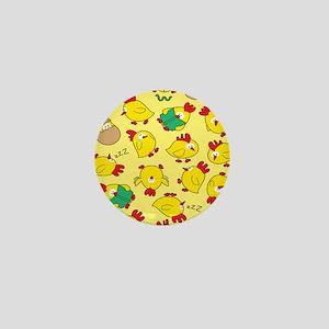 Funny Chicken Pattern Mini Button