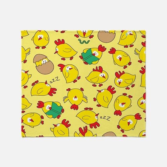 Funny Chicken Pattern Throw Blanket