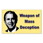 Weapon of Mass Deception Sticker (Rect.)