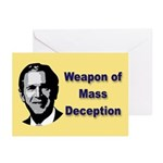 Weapon of Mass Deception Greeting Cards (6)