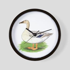Snowy Mallard Hen Wall Clock
