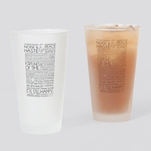Desiderata Drinking Glass