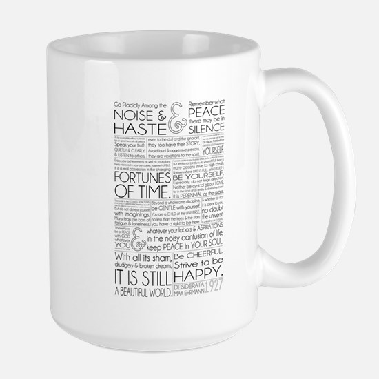 Desiderata Large Mug Mugs