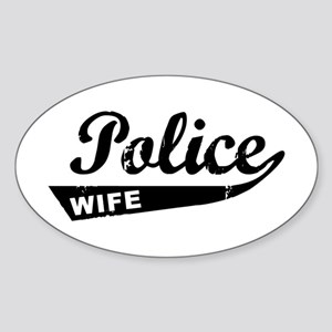 Vintage Police Wife Oval Sticker