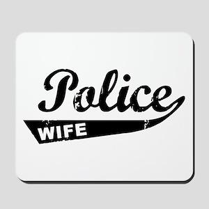 Vintage Police Wife Mousepad