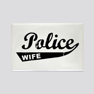 Vintage Police Wife Rectangle Magnet
