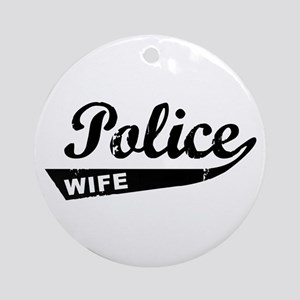 Vintage Police Wife Ornament (Round)
