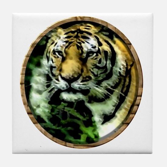 Jungle Tiger Tile Coaster