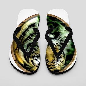 Jungle Tiger Flip Flops