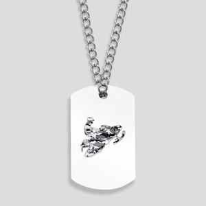 Camouflage Grey Snowmobiler Dog Tags