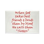 God Made Sisters Rectangle Magnet (10 pack)