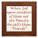 God Made Friends Framed Tile
