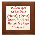 God Made Sisters Framed Tile