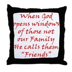 God Made Friends Throw Pillow