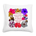 God Made Friends Square Canvas Pillow