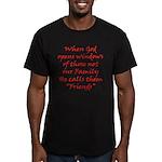 God Made Friends Men's Fitted T-Shirt (dark)