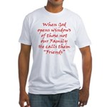 God Made Friends Fitted T-Shirt