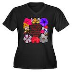 God Made Fri Women's Plus Size V-Neck Dark T-Shirt
