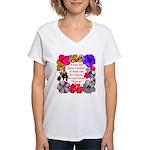 God Made Friends Women's V-Neck T-Shirt